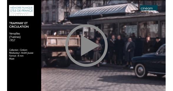 Versailles (Yvelines), 1957, Tramway et circulation